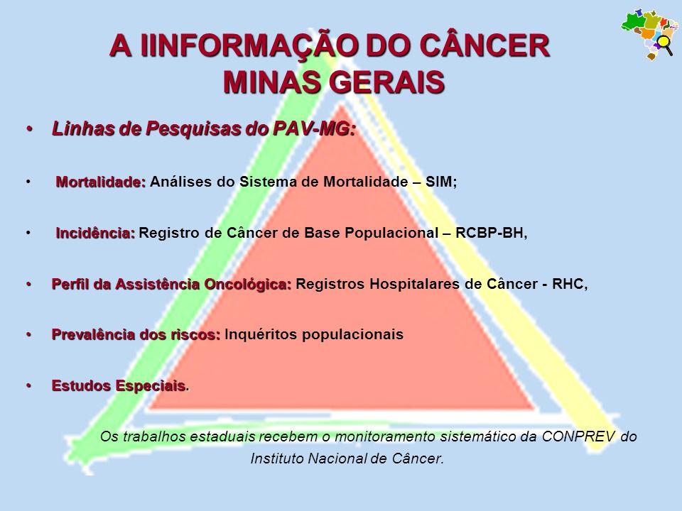 A IINFORMAÇÃO DO CÂNCER MINAS GERAIS