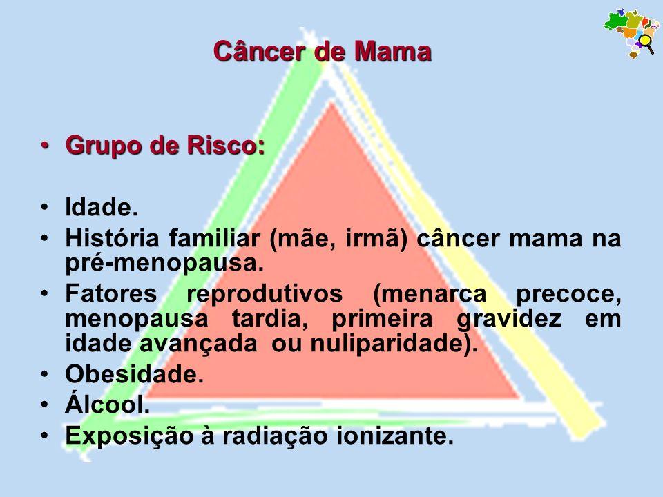 Câncer de Mama Grupo de Risco: Idade.