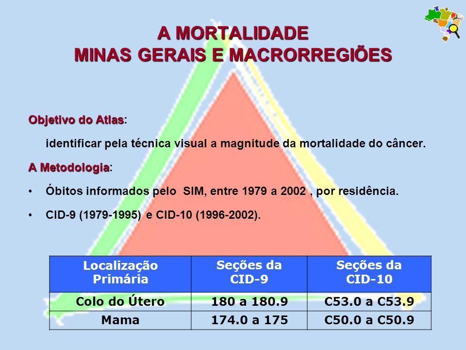A MORTALIDADE MINAS GERAIS E MACRORREGIÕES