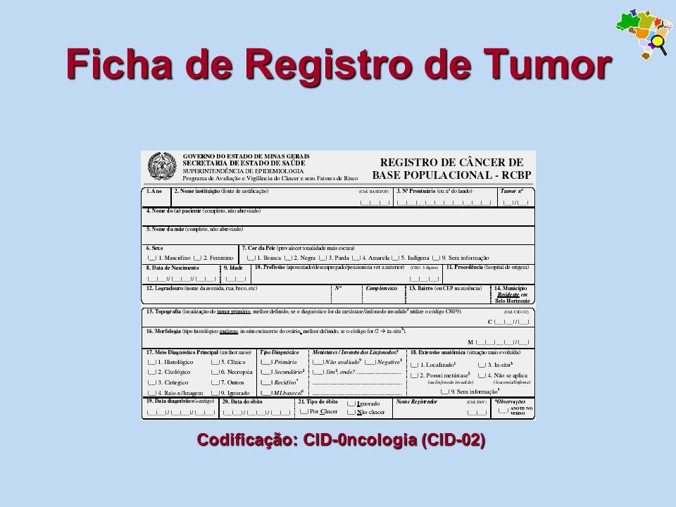 Ficha de Registro de Tumor
