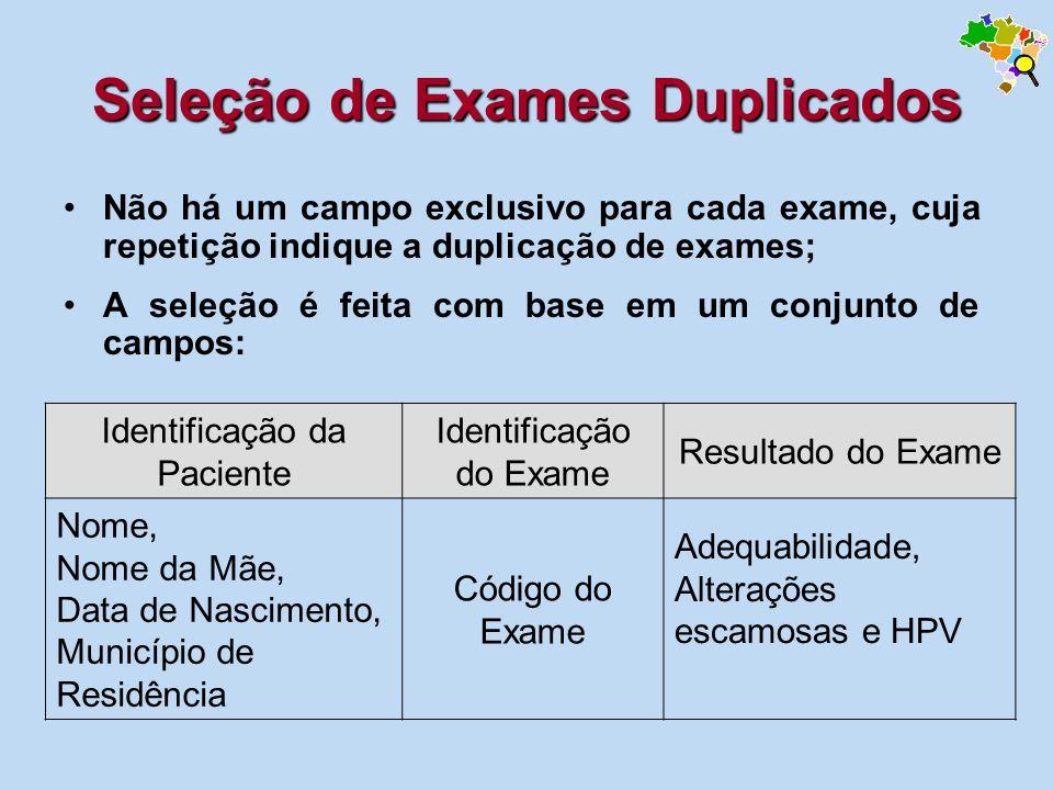 Seleção de Exames Duplicados