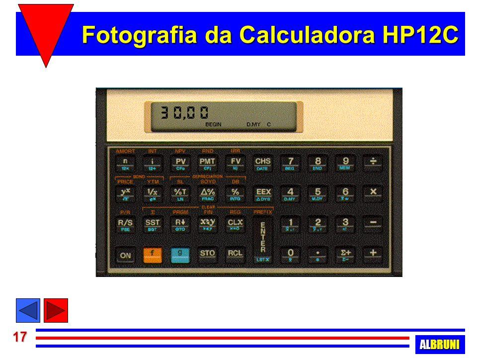Fotografia da Calculadora HP12C