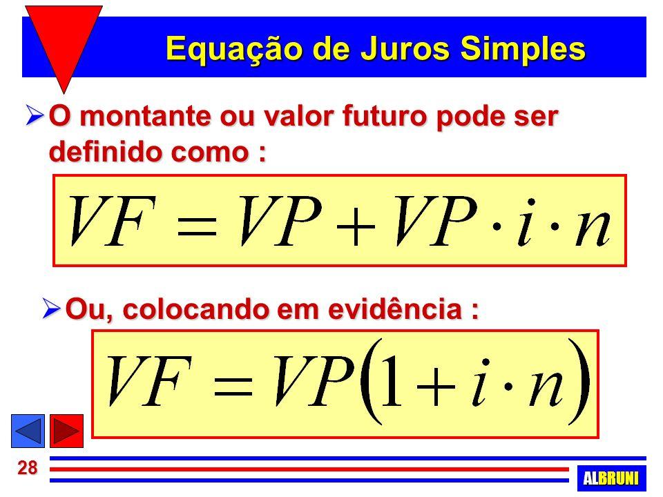 Equação de Juros Simples