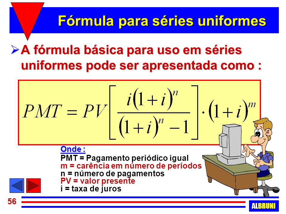 Fórmula para séries uniformes