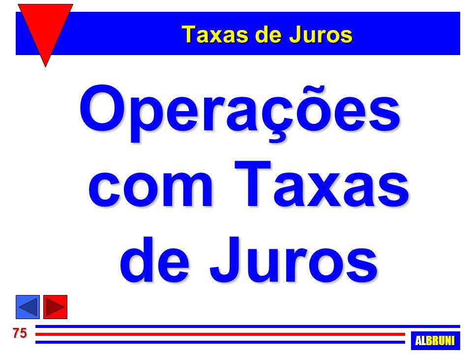 Operações com Taxas de Juros