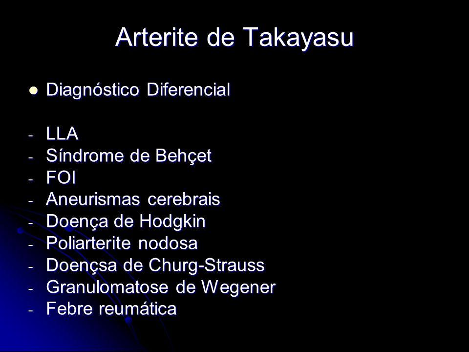 Arterite de Takayasu Diagnóstico Diferencial LLA Síndrome de Behçet