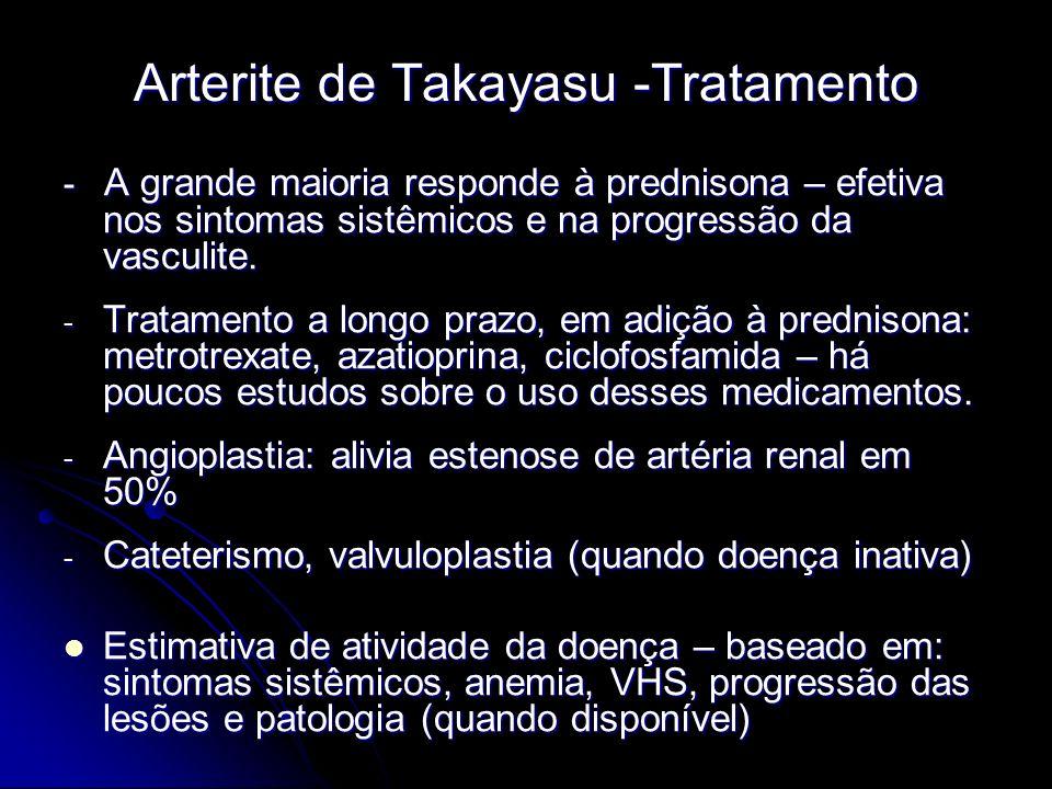 Arterite de Takayasu -Tratamento