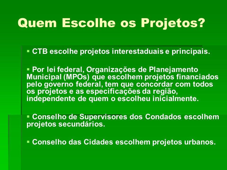 Quem Escolhe os Projetos