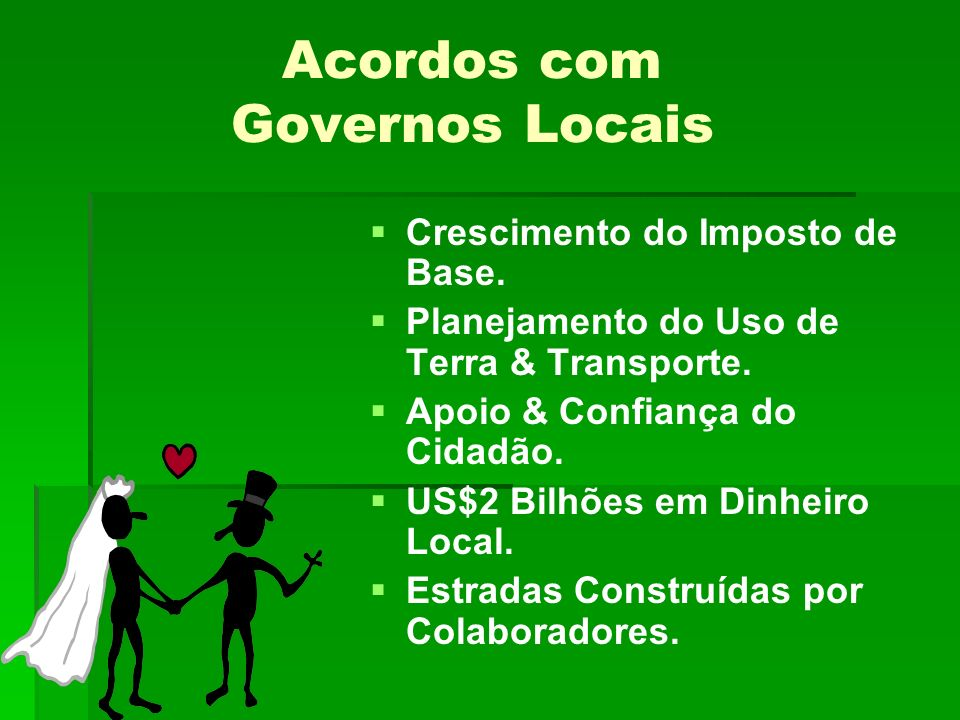 Acordos com Governos Locais