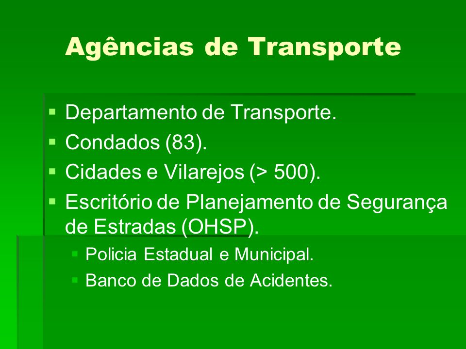 Agências de Transporte
