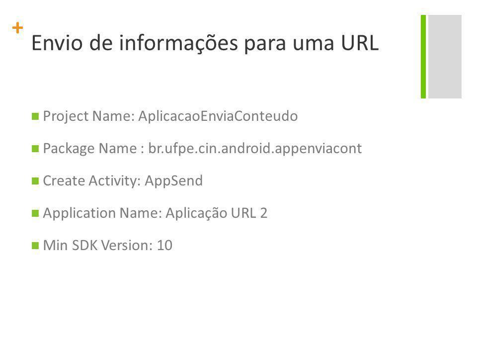 Envio de informações para uma URL