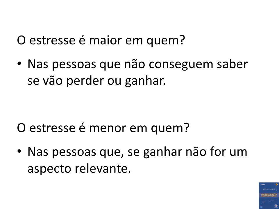 O estresse é maior em quem