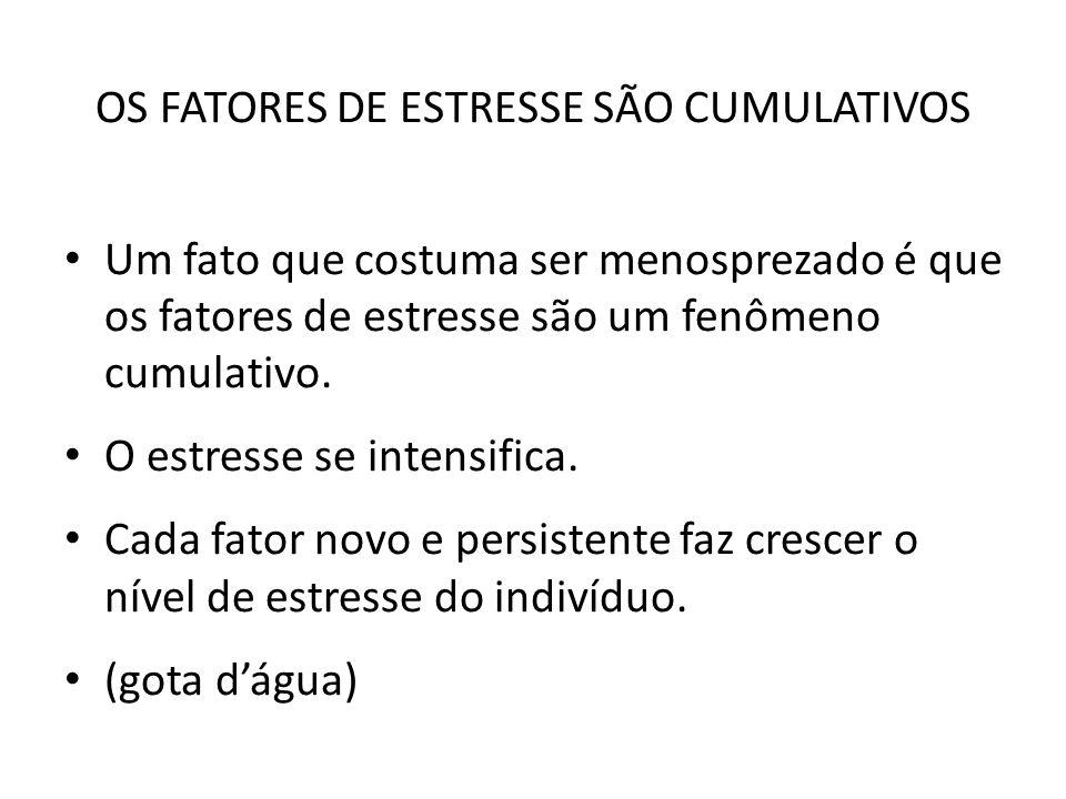 OS FATORES DE ESTRESSE SÃO CUMULATIVOS