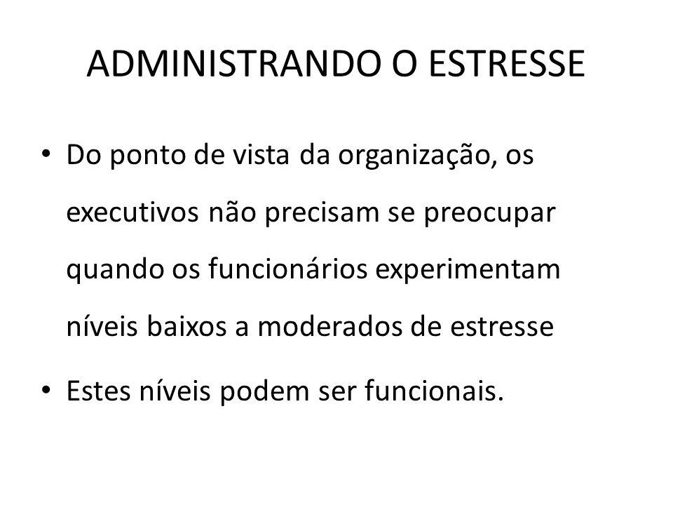 ADMINISTRANDO O ESTRESSE