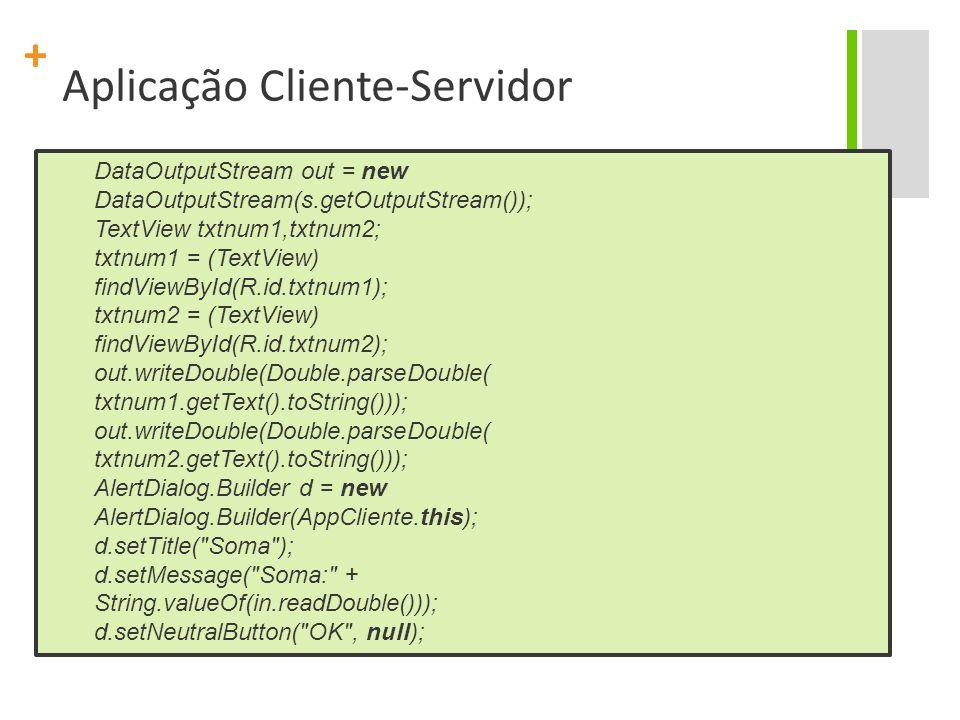 Aplicação Cliente-Servidor