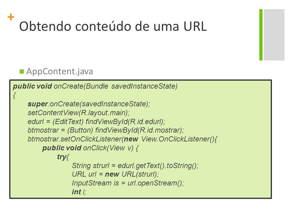 Obtendo conteúdo de uma URL