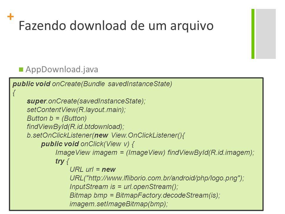 Fazendo download de um arquivo