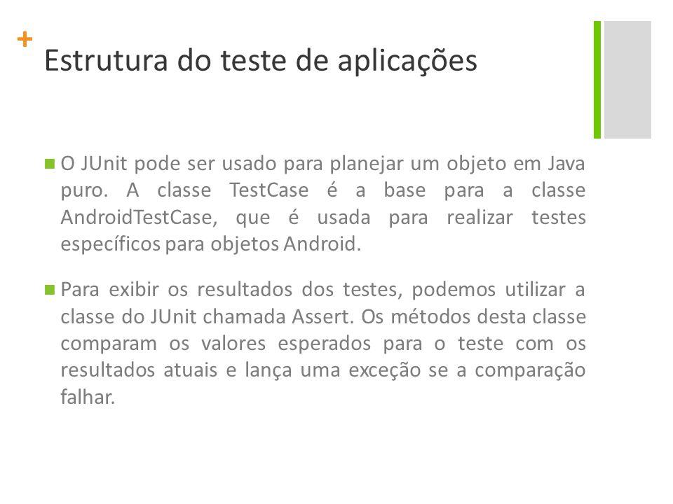 Estrutura do teste de aplicações