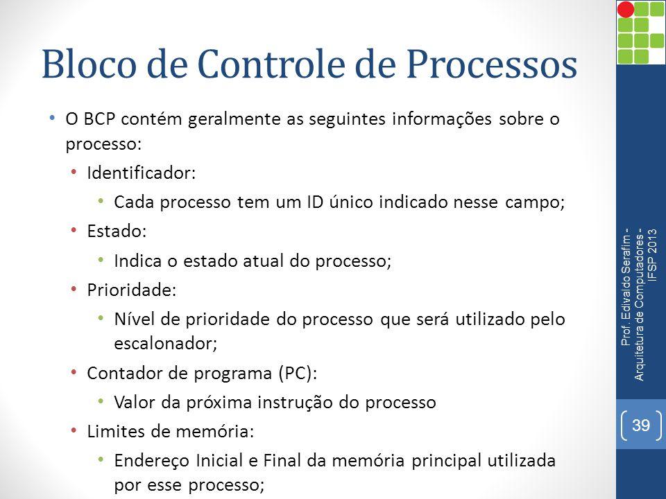 Bloco de Controle de Processos