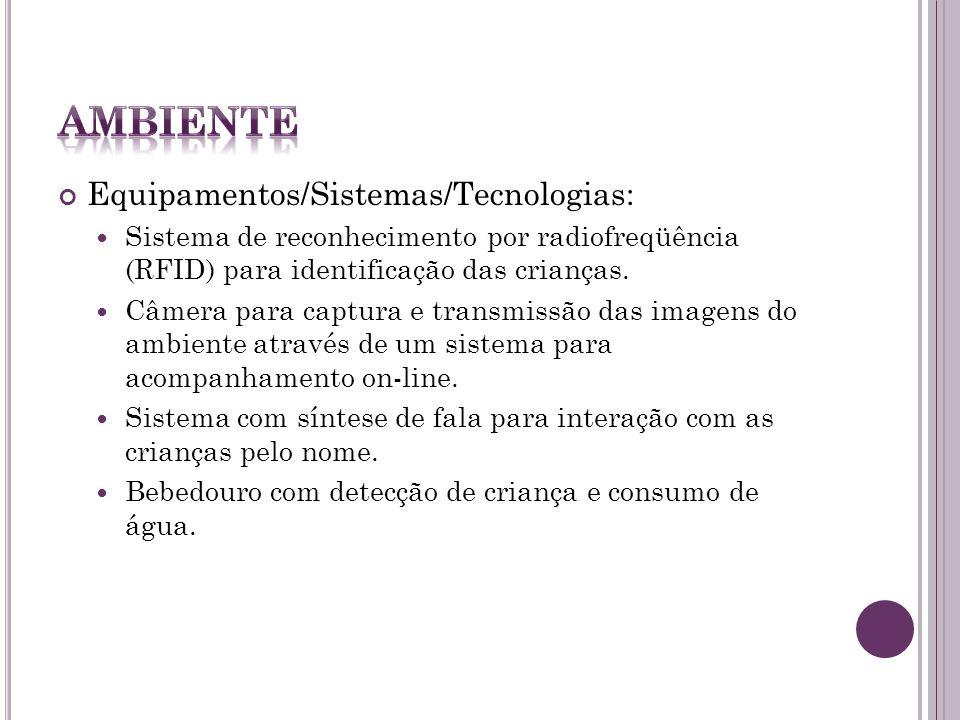 Ambiente Equipamentos/Sistemas/Tecnologias: