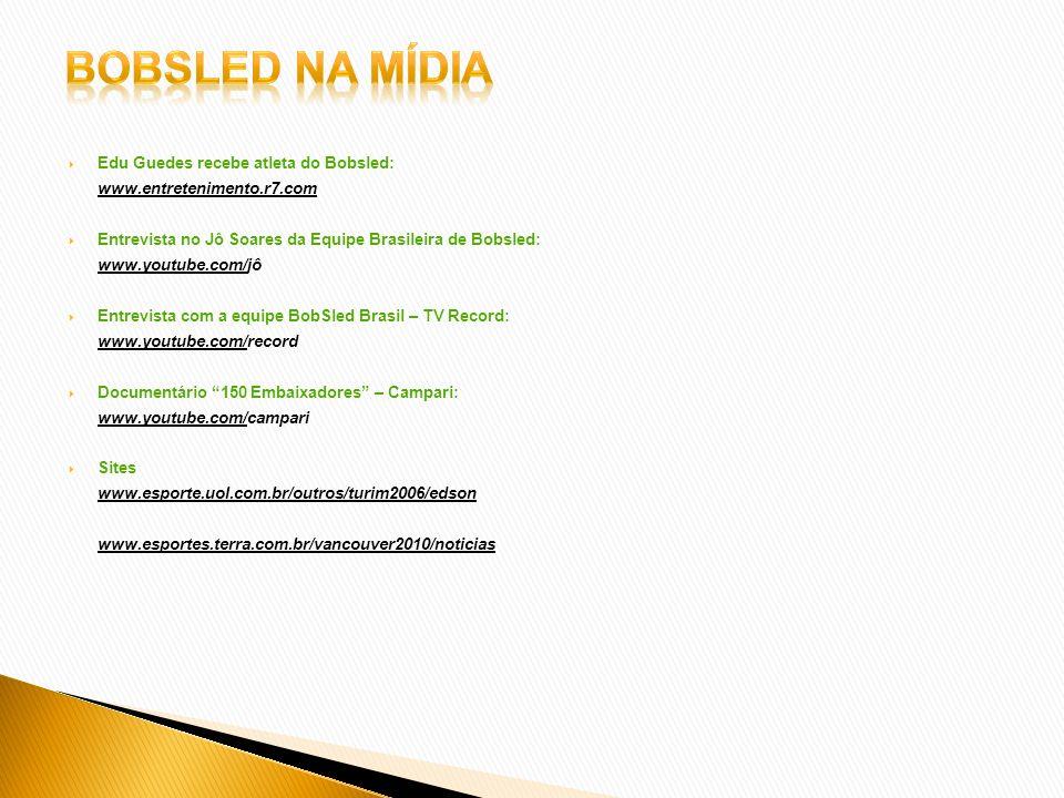 Bobsled na mídia Edu Guedes recebe atleta do Bobsled: