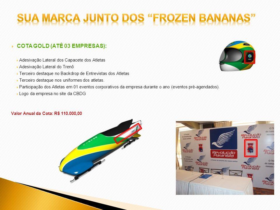 Sua marca junto dos frozen bananas
