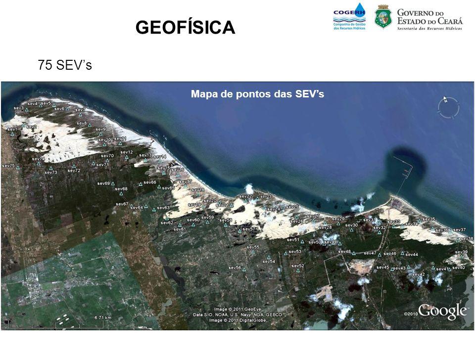 GEOFÍSICA 75 SEV's Mapa de pontos das SEV's