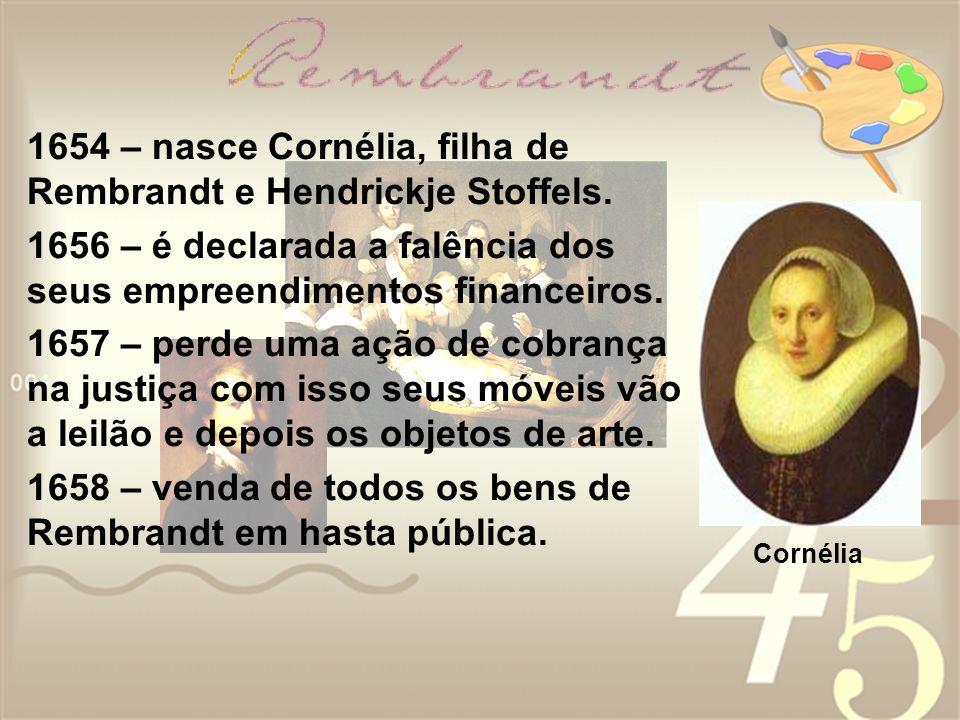 1654 – nasce Cornélia, filha de Rembrandt e Hendrickje Stoffels.