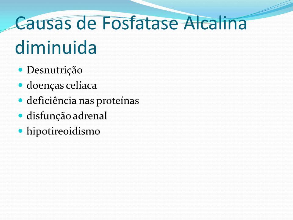 Causas de Fosfatase Alcalina diminuida