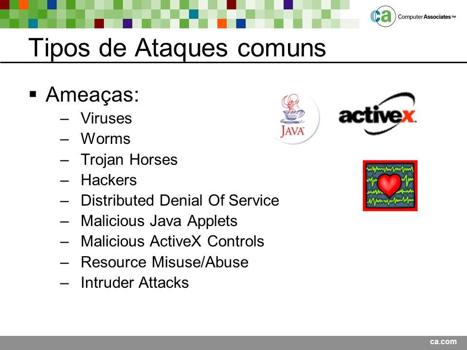 Tipos de Ataques comuns
