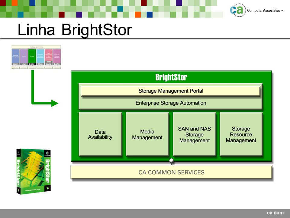 Linha BrightStor Presentation Title <Date>