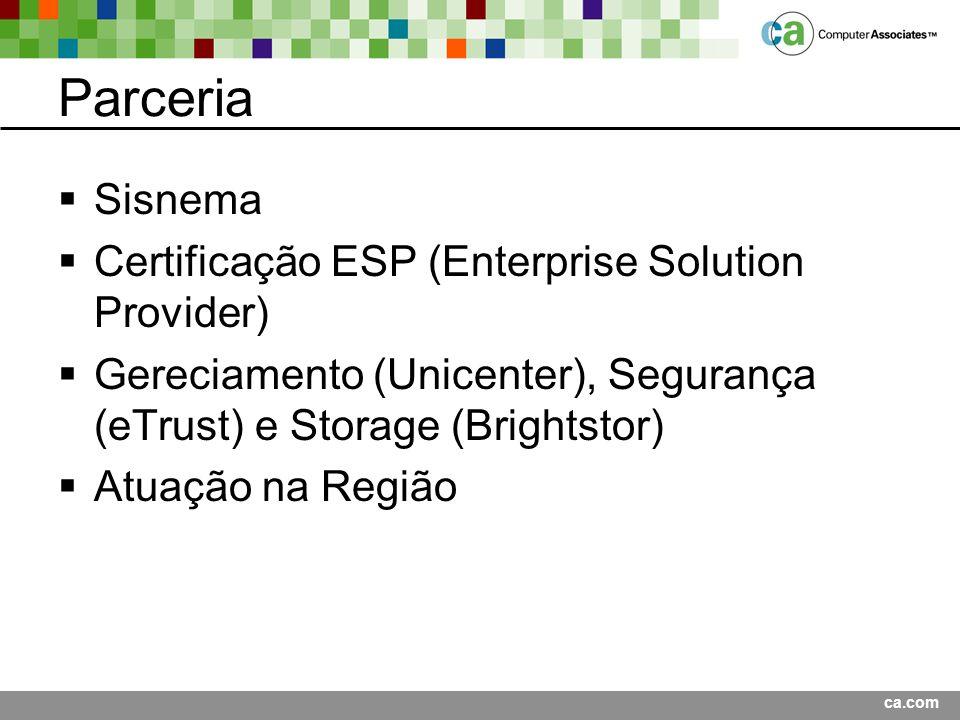 Parceria Sisnema Certificação ESP (Enterprise Solution Provider)