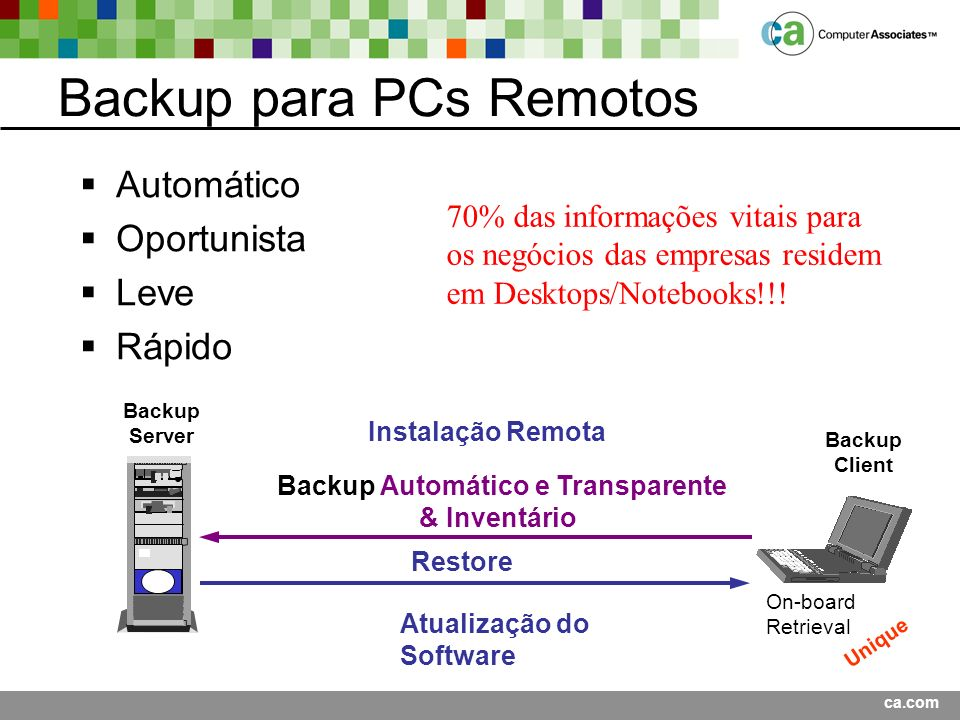 Backup para PCs Remotos