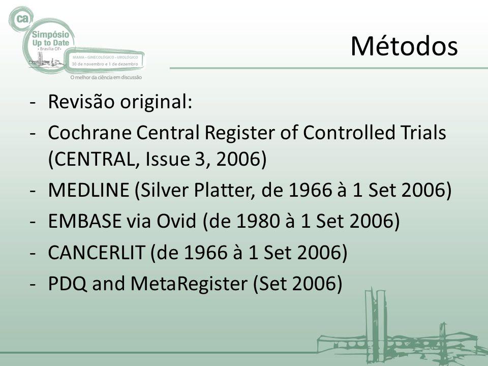 Métodos Revisão original: