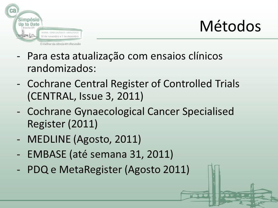 Métodos Para esta atualização com ensaios clínicos randomizados: