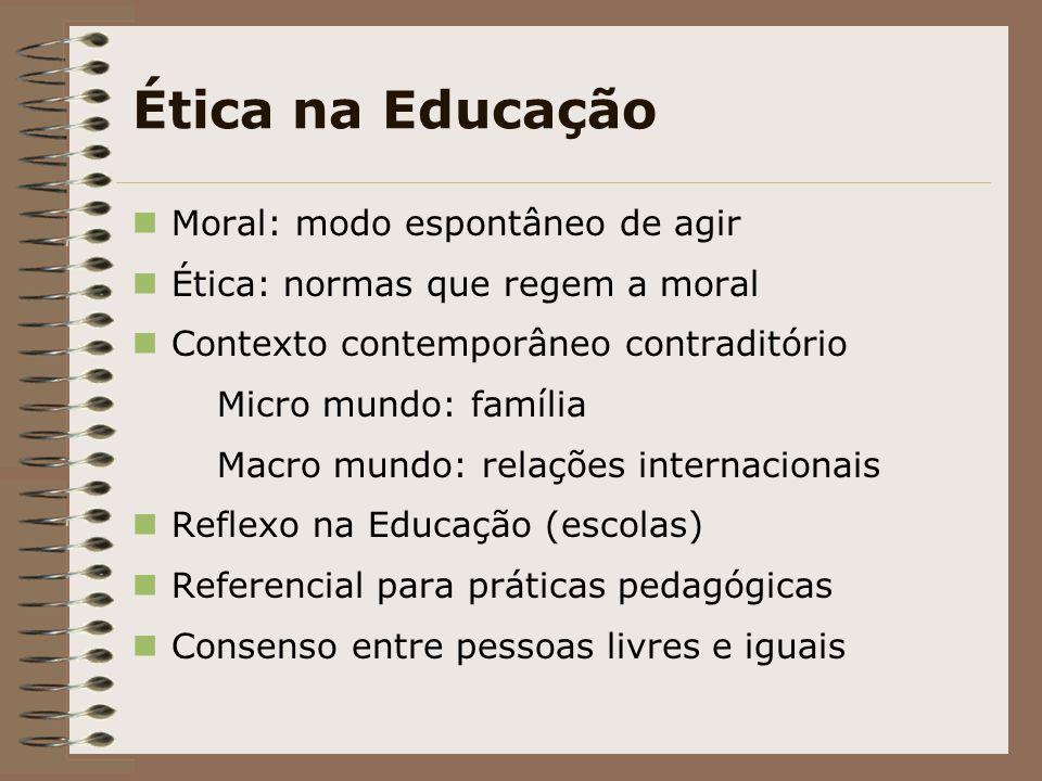 Ética na Educação Moral: modo espontâneo de agir