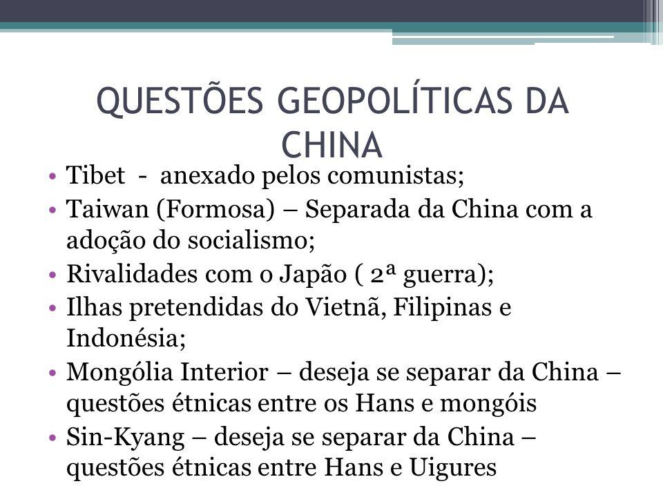 QUESTÕES GEOPOLÍTICAS DA CHINA