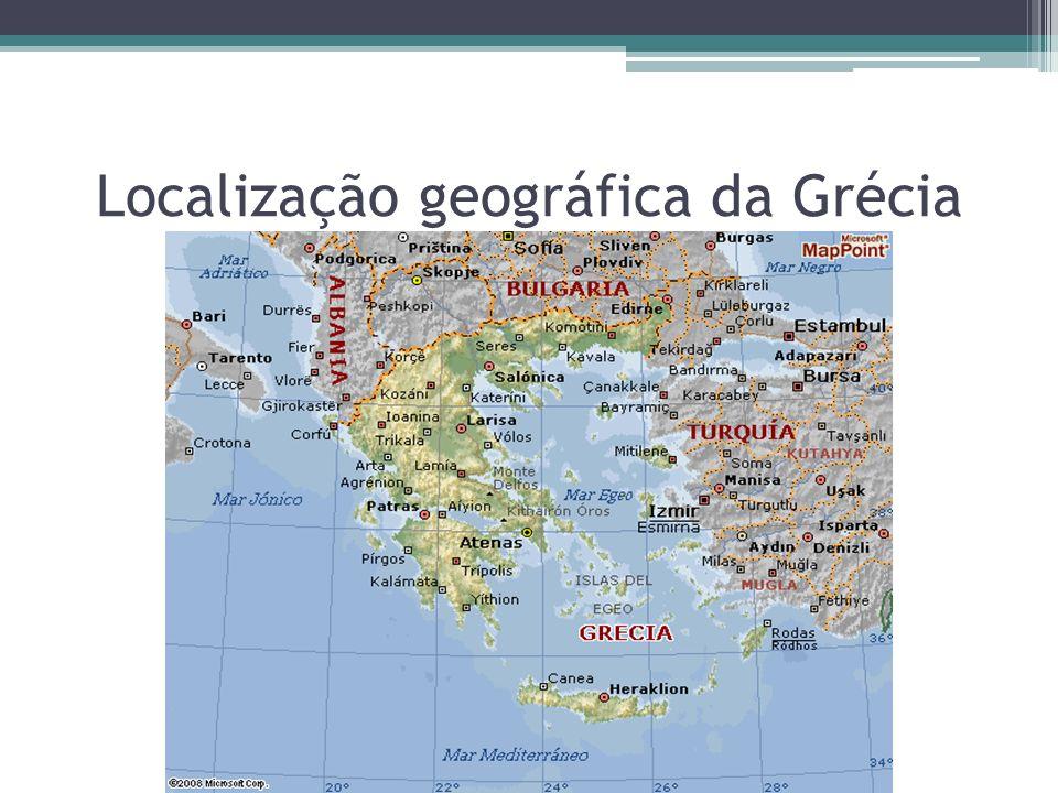 Localização geográfica da Grécia