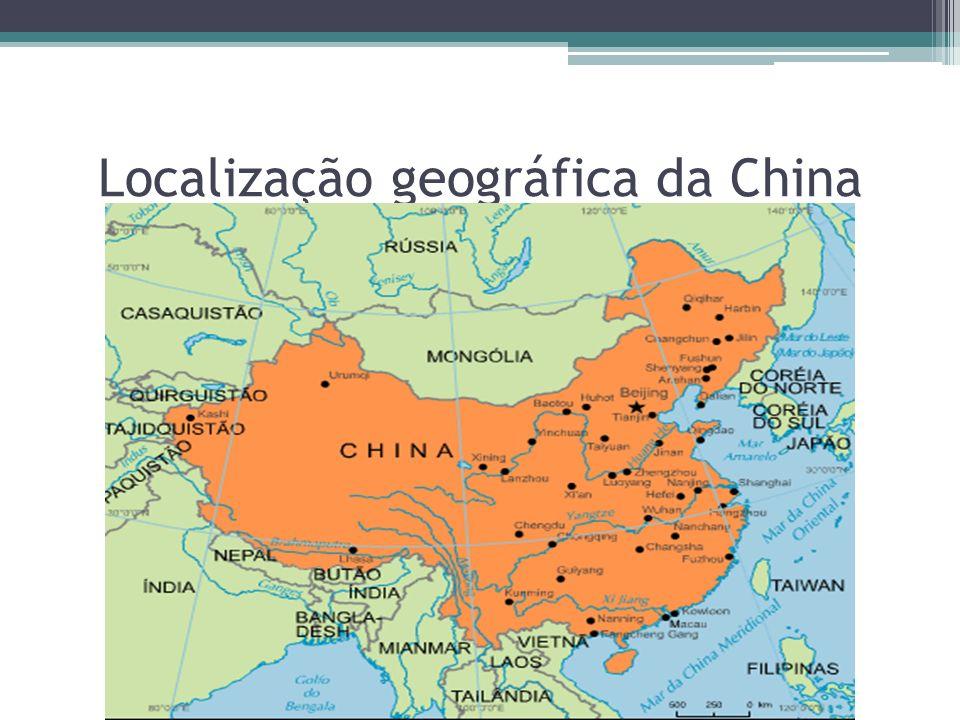 Localização geográfica da China