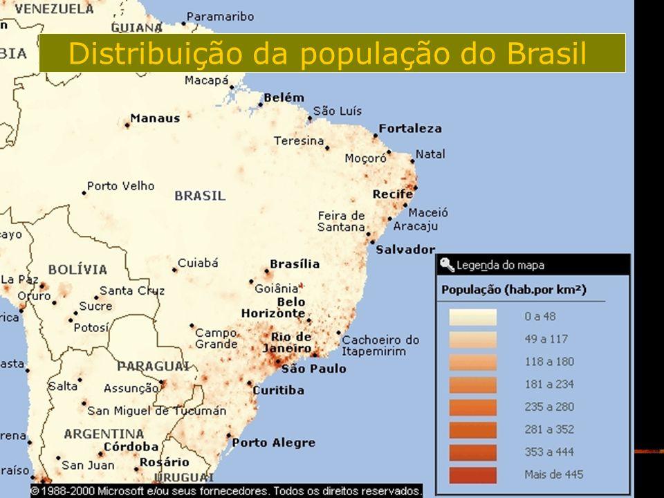 Distribuição da população do Brasil