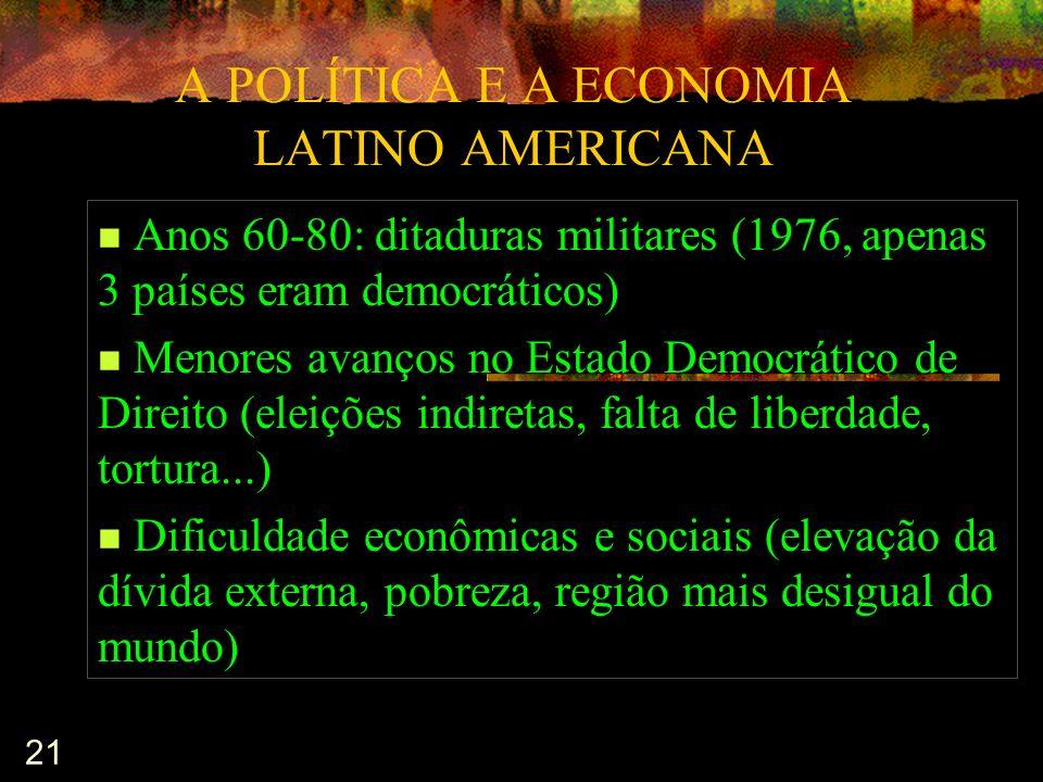 A POLÍTICA E A ECONOMIA LATINO AMERICANA