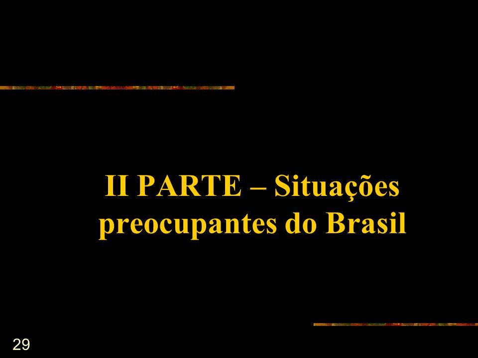II PARTE – Situações preocupantes do Brasil