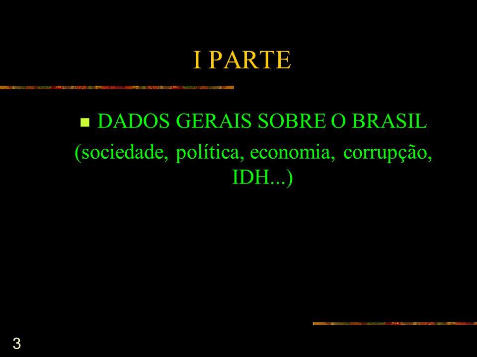 I PARTE DADOS GERAIS SOBRE O BRASIL