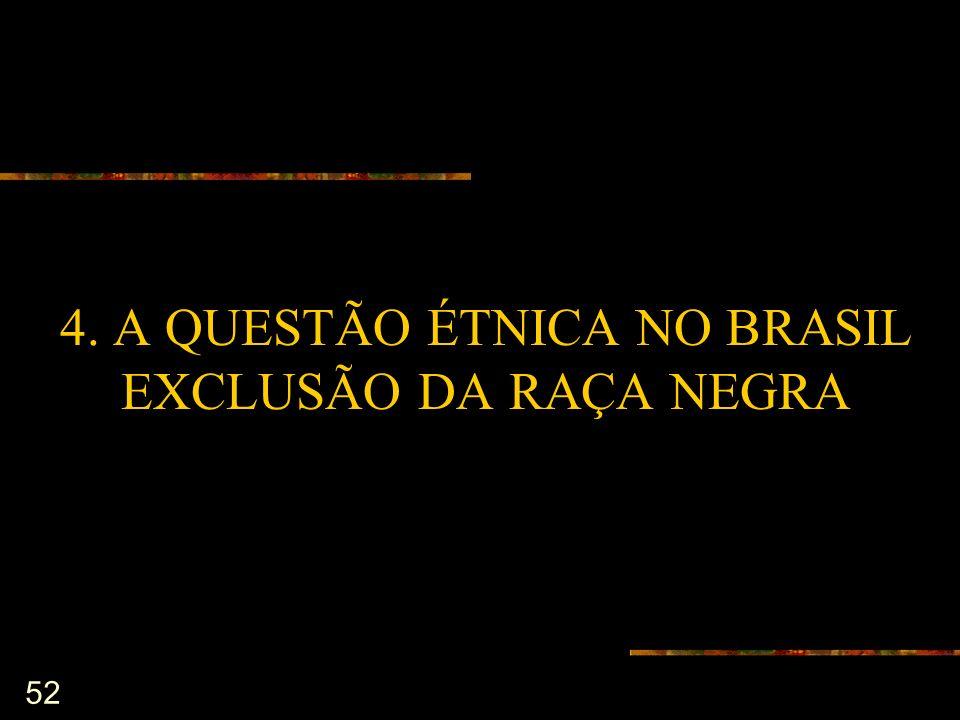 4. A QUESTÃO ÉTNICA NO BRASIL EXCLUSÃO DA RAÇA NEGRA