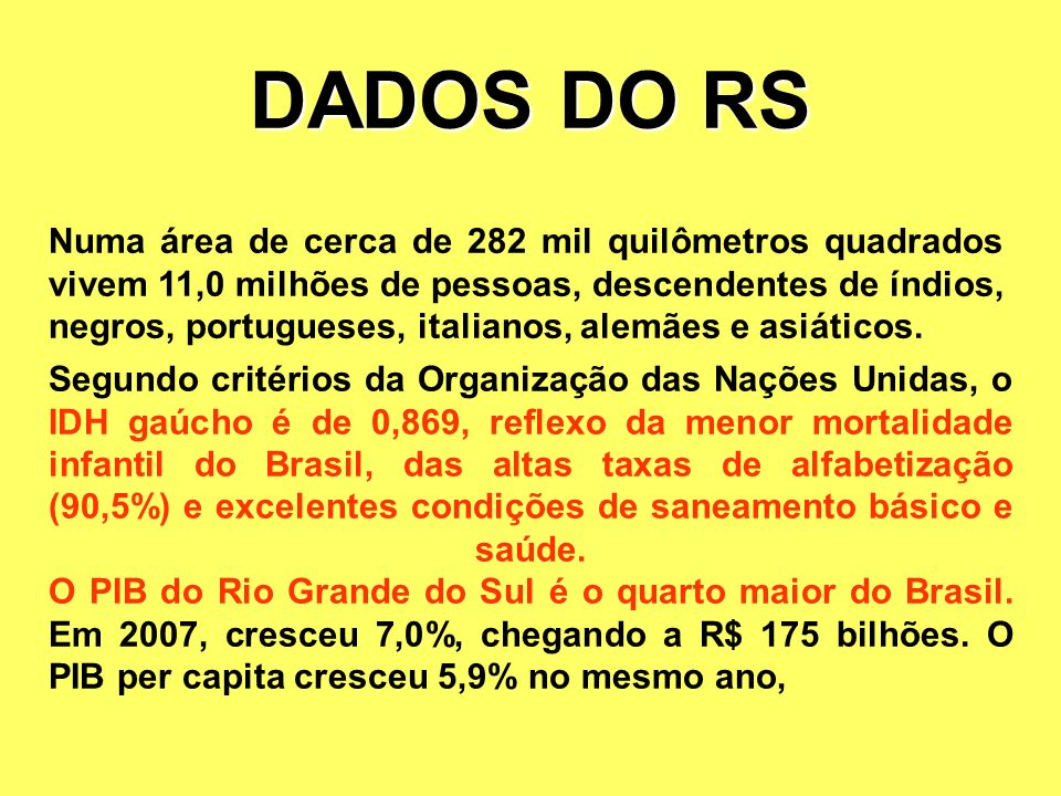 DADOS DO RS
