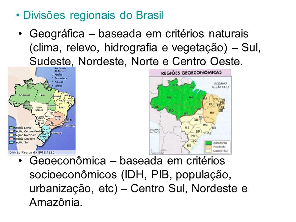 Divisões regionais do Brasil