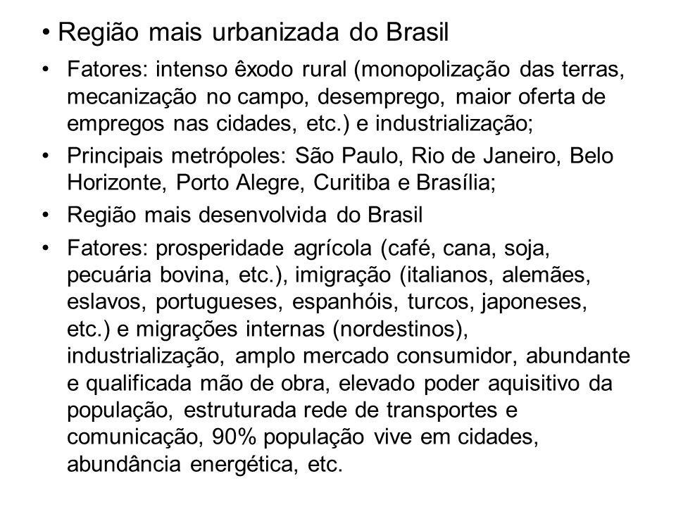 Região mais urbanizada do Brasil