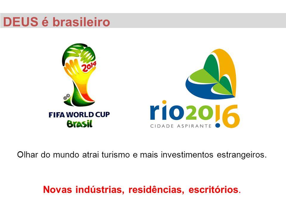 DEUS é brasileiro Novas indústrias, residências, escritórios.