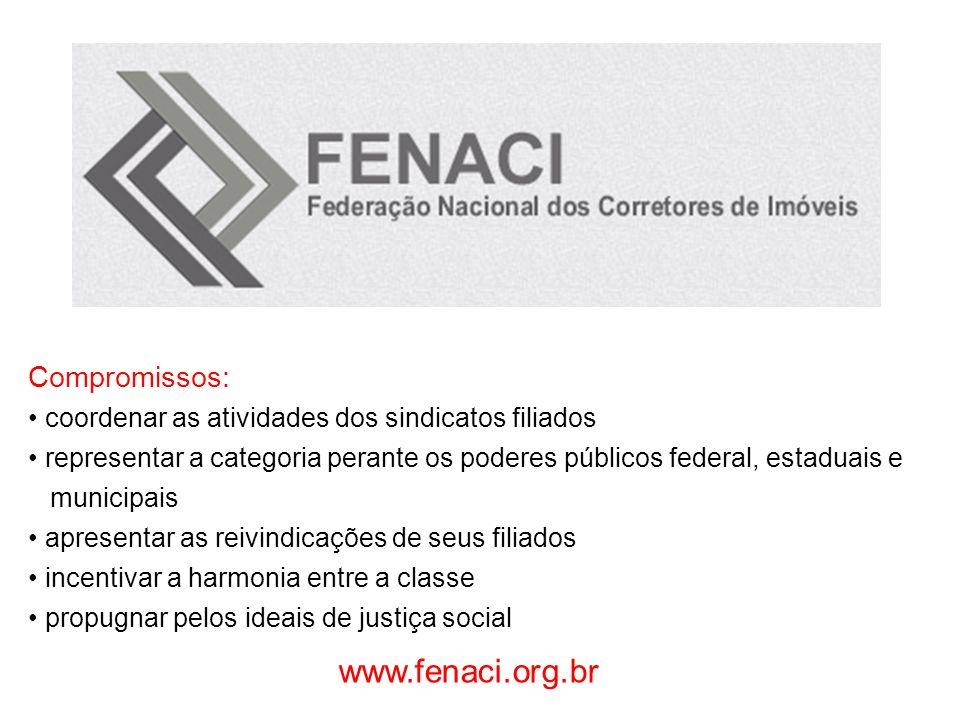 www.fenaci.org.br Compromissos: