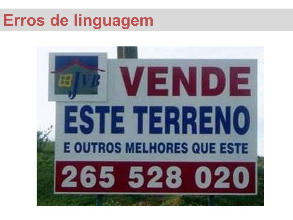 Erros de linguagem